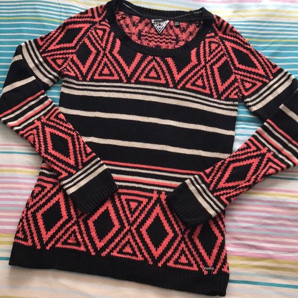 Volcom Aztec geometric print sweater